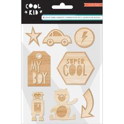 Cool Kid Wood Veneers Shapes 8/Pkg