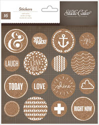 Atlantic - Cork Stickers - Circles - Studio Calico