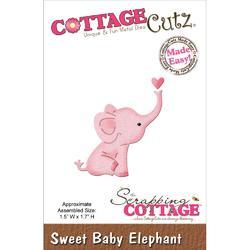 CottageCutz Sweet Baby Elephant Mini Die