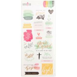 "Creative Devotion Matte Scripture Cardstock Stickers 6""X12"" 2/Pkg"
