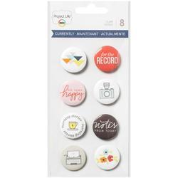 Currently Flair Adhesive Metal Badges - 1