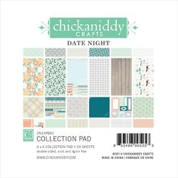 """Date Night Paper Pad 6""""x6"""" 24 sheets"""
