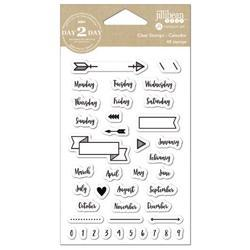 Day 2 Day Planner Clear Stamps - Calendar