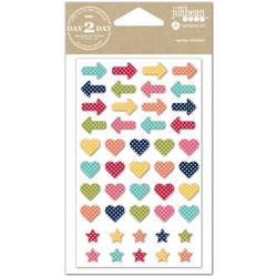 Day 2 Day Planner Epoxy Stickers - Arrows, Hearts & Stars - 1