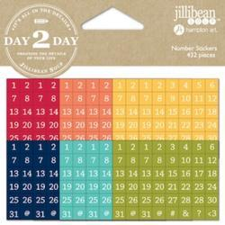 Day 2 Day Planner Number Stickers