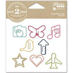Day 2 Day Planner Shaped Clips 8/Pkg - Everyday - 1
