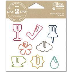 Day 2 Day Planner Shaped Clips 8/Pkg - Wine - 1