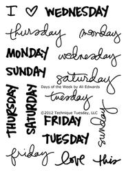 Days of the Week by Ali Edwards - 1