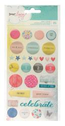 Polka Dot Party - Epoxy Stickers - Dear Lizzy