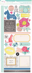 Polka Dot Party - Large Remarks Sticker Sheet- Dear Lizzy
