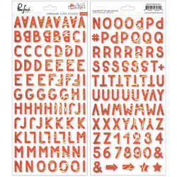 """December Days Chipboard Stickers 5.5""""X11"""" 2/Pkg"""