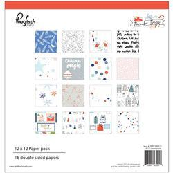 "December Days Double-Sided Paper Pack 12""X12"" 16/Pkg"