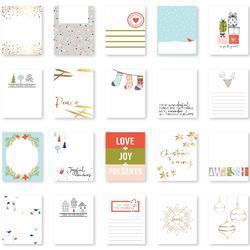 """December Days Gold Foiled Card Set 3""""X4"""" 20/Pkg"""