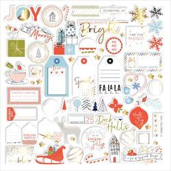 December Days Gold Foiled Die-Cuts 67/Pkg