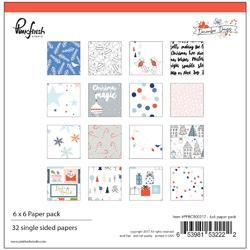 "December Days Single-Sided Paper Pack 6""X6"" 32/Pkg"