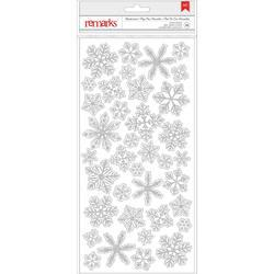 Deck The Halls Wonderland Silver Snowflakes Glitter Stickers