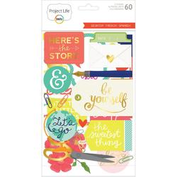Desktop Project Life Chipboard Stickers - 1
