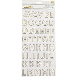 "DIY Shop 4 Follow/Gold Thickers Alphabet Stickers 5.5""X11"" Sheets 2/Pkg"