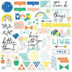 Dream On Cardstock Die-Cuts 54/Pkg