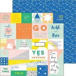"""Dream On Double-Sided Cardstock Reverie 12""""X12"""""""