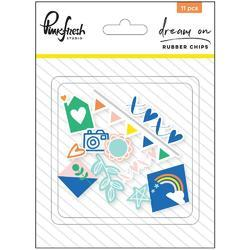 Dream On Rubber Chips Embellishments 11/Pkg