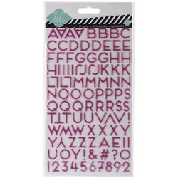 Dreamy Alphabet Puffy Glitter Stickers - 1