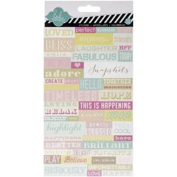 Dreamy Word Jumble Cardstock Stickers - 1