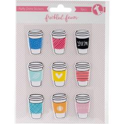 Drink Cups Puffy Stickers - 1