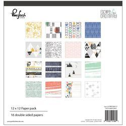 """Escape The Ordinary Double-Sided Paper Pack 12""""X12"""" 16/Pkg - 1"""