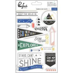 Escape The Ordinary Fabric Die-Cuts 16/Pkg - 1
