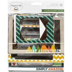 Explore Die-Cut Chipboard Photo Frames - 1