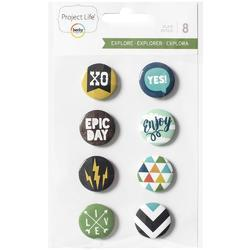 Explore Flair Adhesive Metal Badges - 1