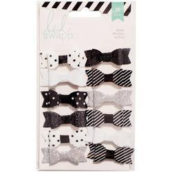 Fabric Bows - Black/White