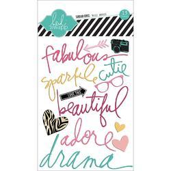 Fabulous Buzz Words Epoxy Stickers - 1
