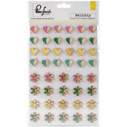 Felicity Color Block Wood Veneer Stickers - 1