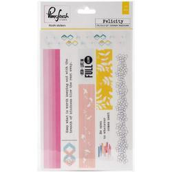 """Felicity Washi Tape Stickers 4""""x6"""" 3 sheets - 1"""