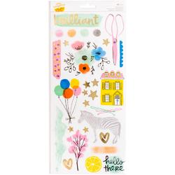 Finders Keepers Accents & Phrases Transparent Stickers - 1