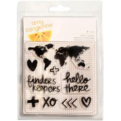 Finders Keepers Map Acrylic Stamps - 1
