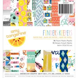 "Finders Keepers Paper Pad 6""x6"" 36pkg"