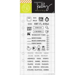 Fitness Planner Clear Stamps - 1