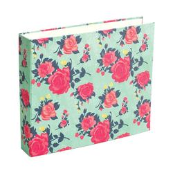 "Flea Market Flowers Patterned D-Ring Album 12""x12"" - 1"