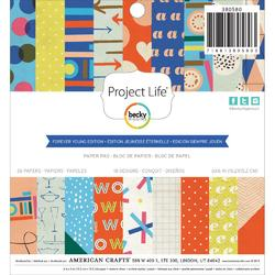 "Forever Young Paper Pad 6""x6"" 36 pkg - 1"