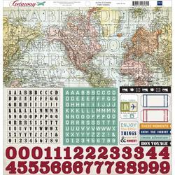 Getaway Alpha Cardstock Stickers 12x12
