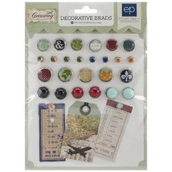 Getaway Decorative Brads - 1