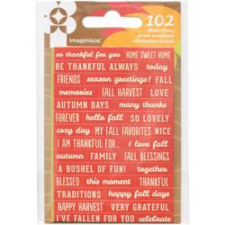 Give Thanks Cardstock Stickers