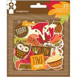 Give Thanks Die-Cut Cardstock Ephemera 25pkg - 1