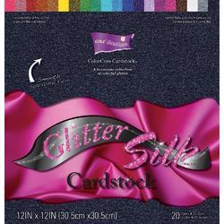 """Glitter Silk Cardstock Pack 12""""x12"""" 20 pkg"""