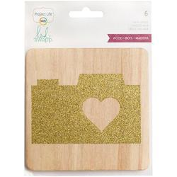 Glittered Wood Veneer Cards 4x4 Project Life® - 1