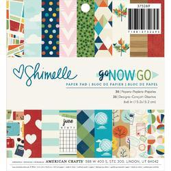 "Go Now Go Single-Sided Paper Pad 6""X6"" 36/Pkg"