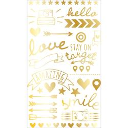 Gold Foil Project Life Rub-Ons